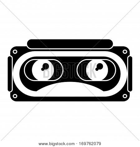 goggles 3d simulation entertaiment pictogram vector illustration eps 10