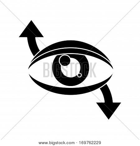 eye virtual reality 360 degree pictogram vector illustration eps 10