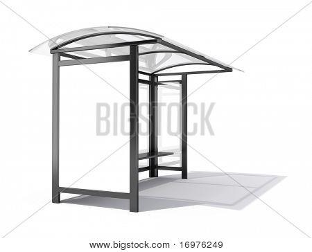Autobusová zastávka billboard - 3d vykreslení