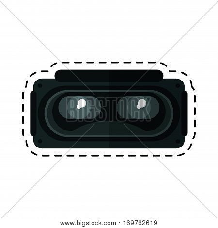 goggles 3d simulation entertaiment cut line vector illustration eps 10