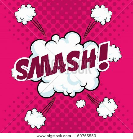 smash bubble speech pop art design vector illustration eps 10