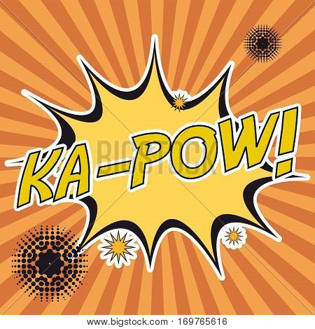 pop art ka-pow stripes background design vector illustration eps 10