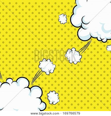 pop art clouds explotion dotted design vector illustration eps 10