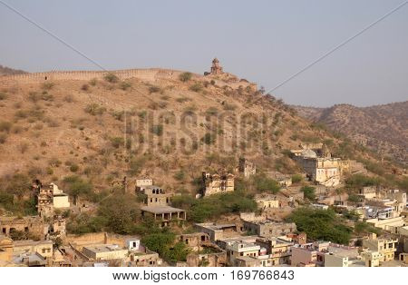 JAIPUR, INDIA - FEBRUARY 16: The Jaigarh Fort near Jaipur is one of the most spectacular forts in India in Jaipur, Rajasthan, India, on February 16, 2016.