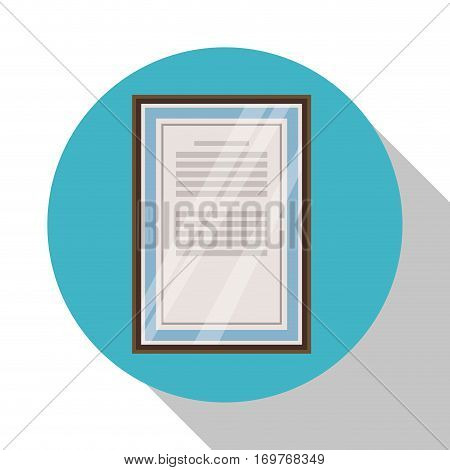 certificate professional work office wall shadow vector illustration eps 10