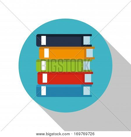 stack book library office elements vector illustration eps 10
