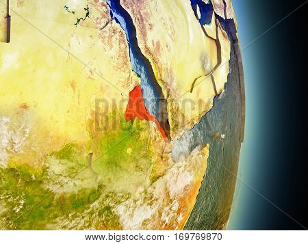 Eritrea In Red From Space