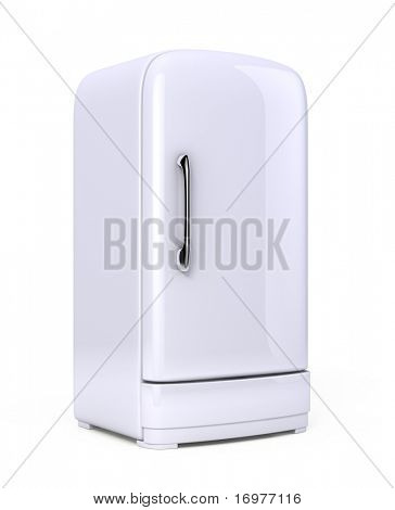 Retro Fridge isolated on white