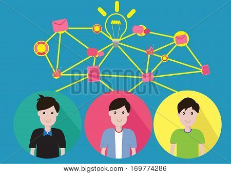 Vector concepr Teamwork Business Help them succeed