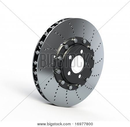 Brake disc isolated on white - 3d render