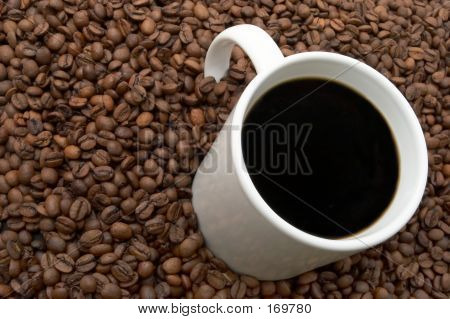 Coffee Beans And Brewed