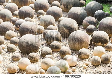 Stone Sphere In Garden