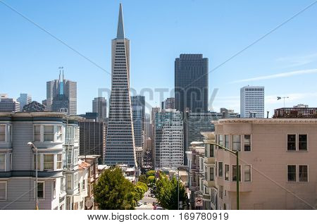 Downtown city of San Francisco, California, USA