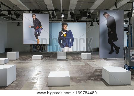 NEW YORK NY - February 01 2017: A general view of the set before the Nautica presentation during New York Fashion Week Men's F/W 2017 at Skylight Clarkson