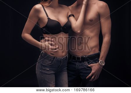 Two People Young Couple Intimate, Unrecognisable Person