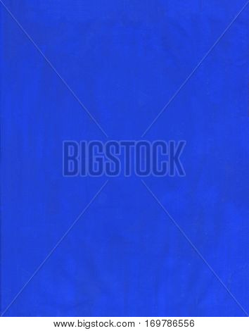 Surface covered with a thin layer of blue  acrylic paint. Brush strokes  background composition