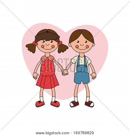 ragdolls couple kids toy isolated icon vector illustration design