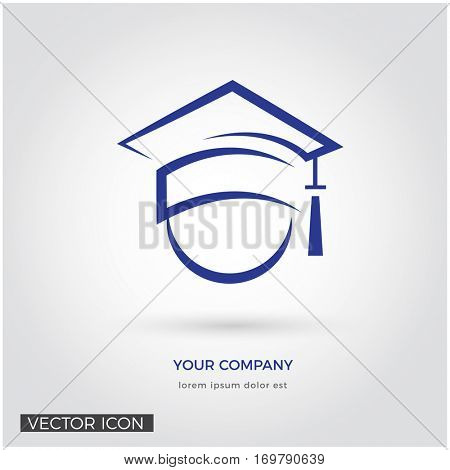 GRADUATION HAT, EDUCATION ICON / LOGO