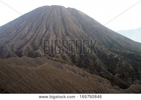 Batok mountain is old vacano in Indonesia