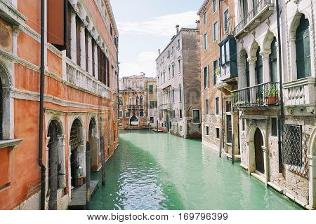 Beautiful view of canal in Venice