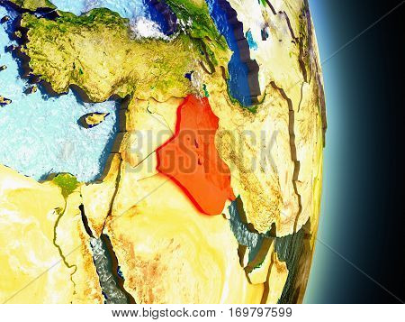 Iraq In Red From Space