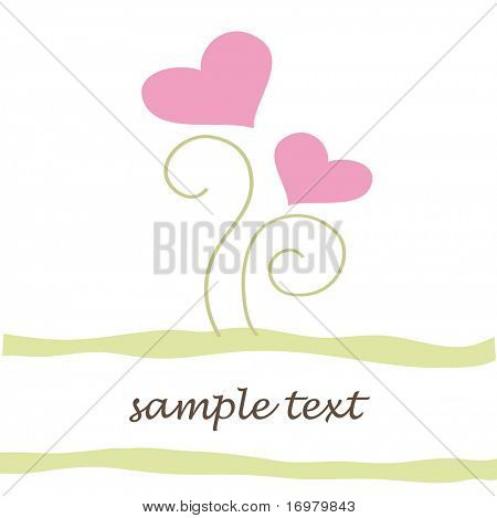 Valentine`s greeting card. Vector.