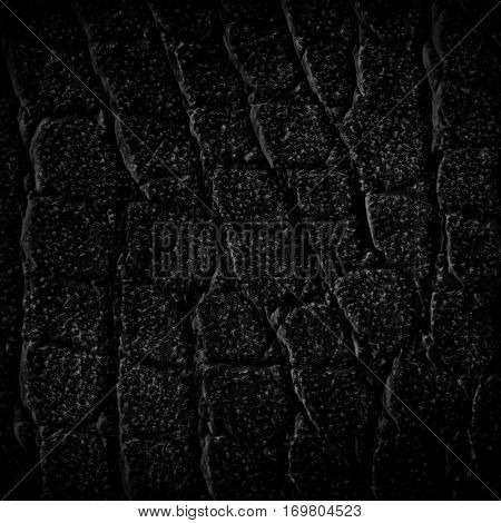 The black leatherette texture for background .