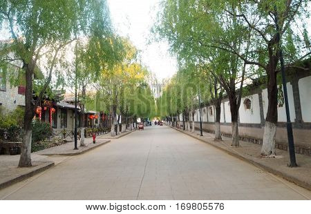 The Old Town of Lijiang is a UNESCO World Heritage Site located in Lijiang City Yunnan China.