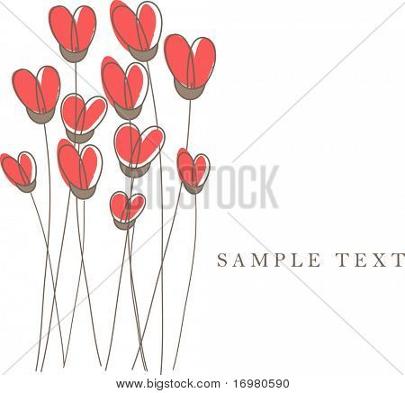Valentine`s heart card.Vector illustration.