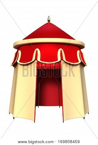 3D rendering of a pavilion isolated on white background