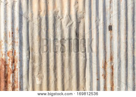old galvanized steel roof abstract background with rusty