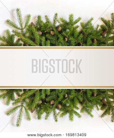 Christmas tree branches concept design illustration banner