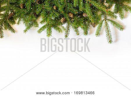 Decoration Christmas tree on white background concept design