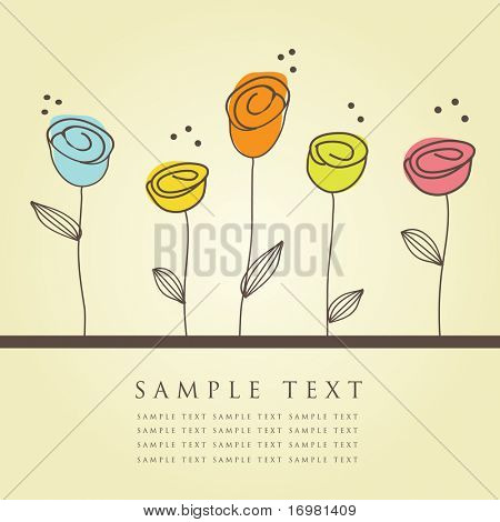 Floral card. Vector illustration.