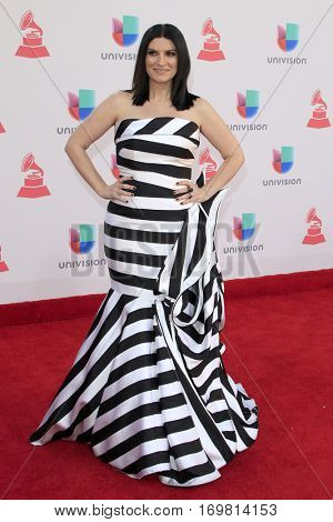 LAS VEGAS - NOV 17:  Laura Pausini at the 17th Annual Latin Grammy Awards at T-Mobile Arena on November 17, 2016 in Las Vegas, NV