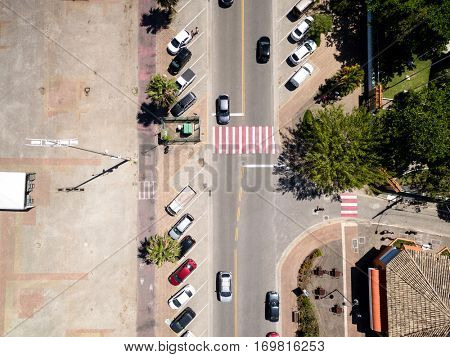 Top View of Street - City Life