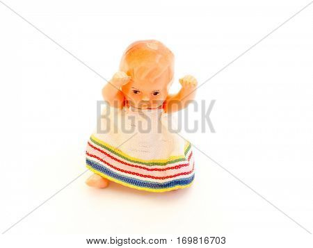 The Miniature yellow baby toy.