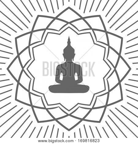 buddha in lotus flower icon