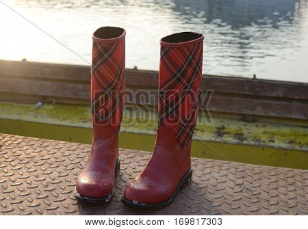 Boots On Dock