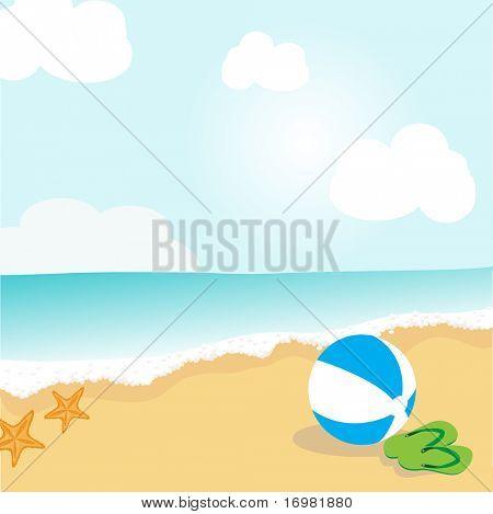 Summer beach illustration.