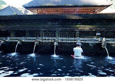 Pura Tirta Umple is old temple in Bali Indonesia