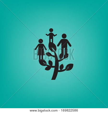 Flat icon. Family Tree.
