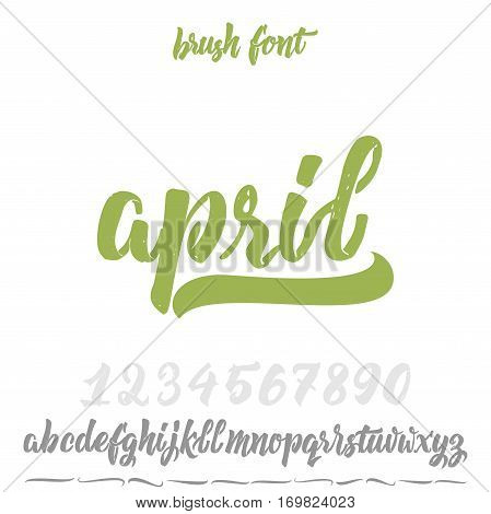 Font drawn on the basis of handwriting calligraphy, modern cursive script brush. Hand Lettering