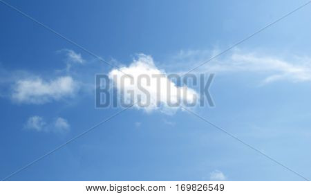 Blue Sky White Clouds Abstract Nature Skies