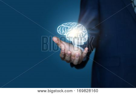 Large possibilities of mind in business concept design illustration banner
