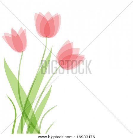 Tulpe Blumen. Vektor-Hintergrund