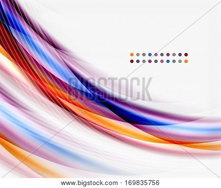 Translucent wave on white background. Modern business abstract template for your message