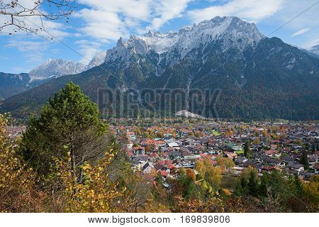 Spa Town Mittenwald From Lookout Point