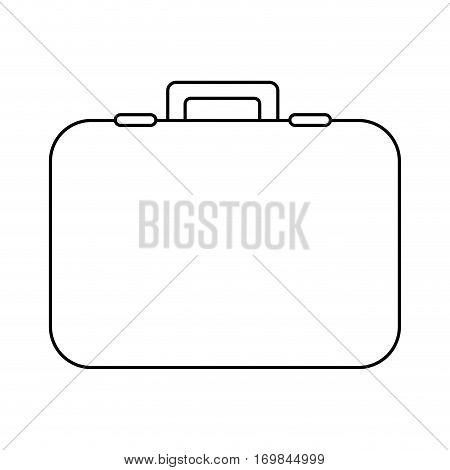 figure suitcase icon image, vector illustration design