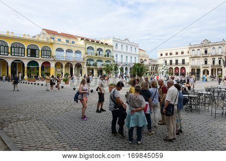 Plaza Vieja With Its Many Recently Restored Colonial Buildings